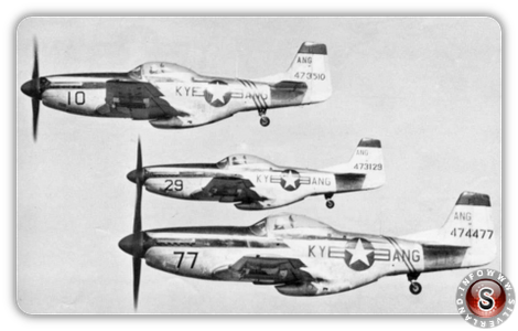 North American Aviation P-51D Mustangs of the 165th-FS Kentucky ANG