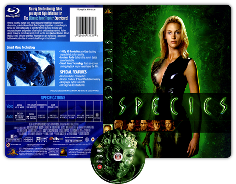 Species - Specie mortale -  Copertina DVD + CD