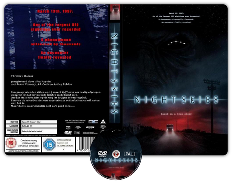 Night skies  - Copertina DVD + CD