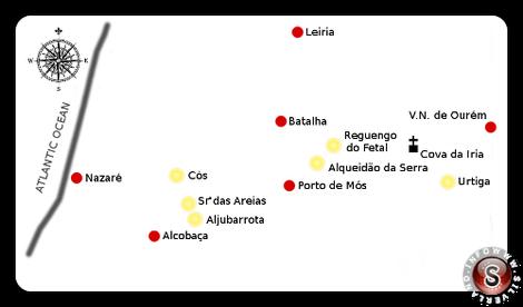 Località dove si sono verificate le apparizioni delle Madonna nella zona intorno a Cova da Iria a partire dal XVI° sec. fino al XX°.