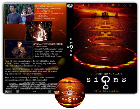 Signs - Copertina DVD + CD