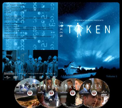 Taken Copertina DVD ep. 1 2 3 4