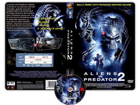 Aliens Vs Predator 2 - Copertina DVD + CD