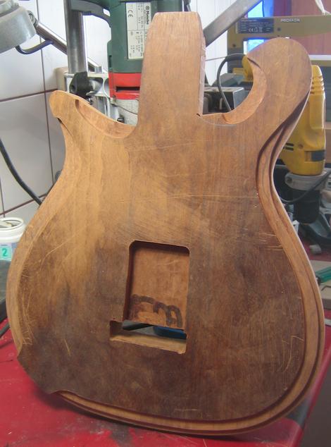 Frontansicht Guitarbody Gitarrenkorpus