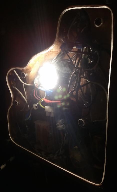 Holzfuß Buche Lampe Lichtkunst Kunsthandwerk Individuell Einzelstück
