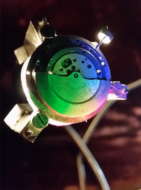 Uhrwerk Lampe Tischlampe Schweiz Instrument