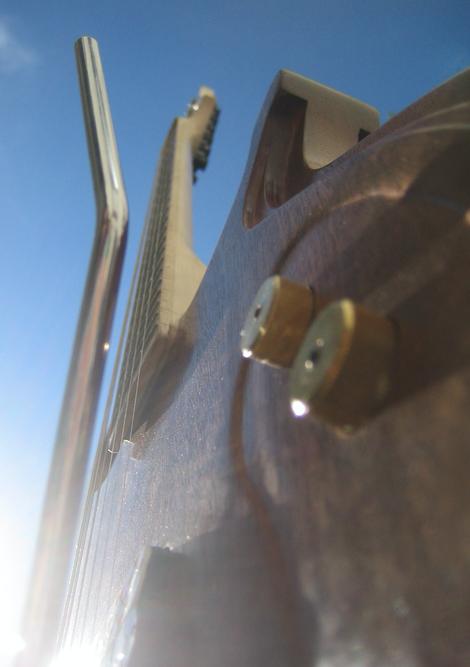 Gitarre Steampung Schönheit Eleganz Luxus Strings Gitarrensaiten Ahorn
