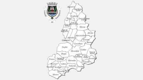 Freguesias do concelho de Mirandela antes da reforma administrativa de 2013