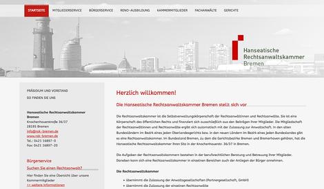 hansaconcept. Webdesign, Lübeck - für Rechtsanwälte, Notare, Steuerberater, also für die Kanzlei, die Anwaltskanzlei für professionelles Kanzleimarketing