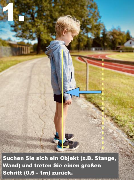Fersenschmerzen Kinder Dehnübung