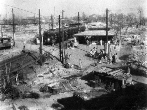 1945年(昭和20年)の戸越公園駅