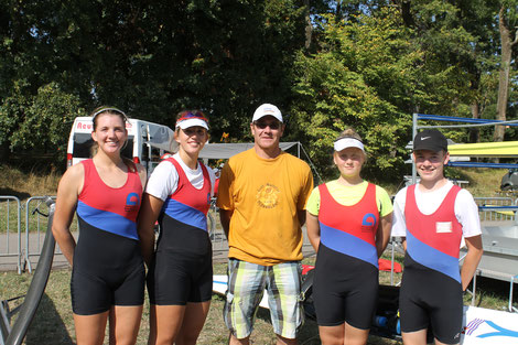 Das erfolgreiche Team mit Trainer Andreas Beer