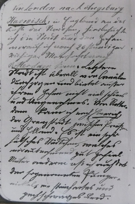 Bildf 2: Schriftprobe Rudolf Diesel im Alter von 12  1/2 Jahren