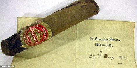 Cigare fumé par Sir Winston Churchill en 1941