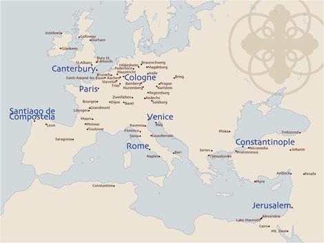 Les premiers lieux de pélerinage en Europe