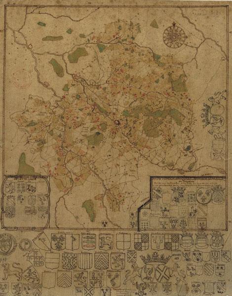 Carte de la baronnie de Preuilly