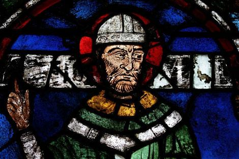 Vitrail avec saint Thomas Becket