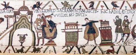Tapisserie de Bayeux, serment d'Harold
