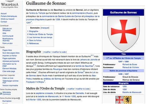 Guillaume de Sonnac dans Wikipédia