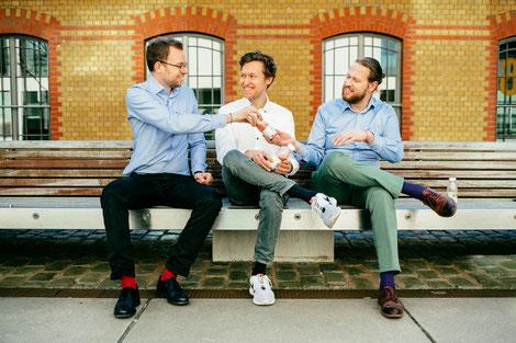 Das Trinkkost-Gründerteam - Stefan, Gennadi und Timon