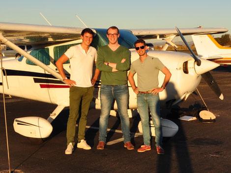 Die Wingly Gründer Emeric, Lars und Bertrand