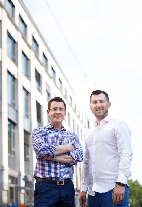 Die Gründer: Sebastian May und Sergej Zwezich