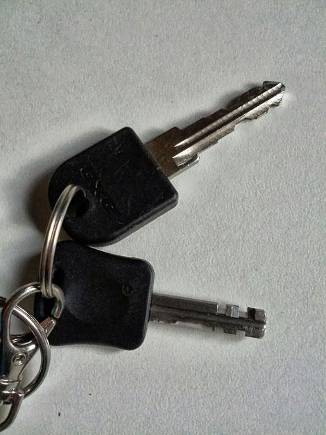 Schlüssel des e-Bike Akkuschlosses