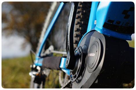 Bosch Performance Line e-MTB Motor mit kleinerem Kettenblatt