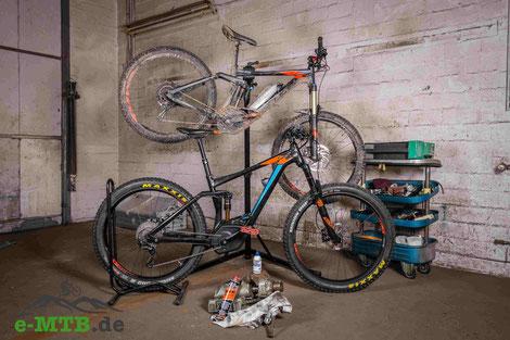 Reinigung und Pflege des e-Mountainbikes
