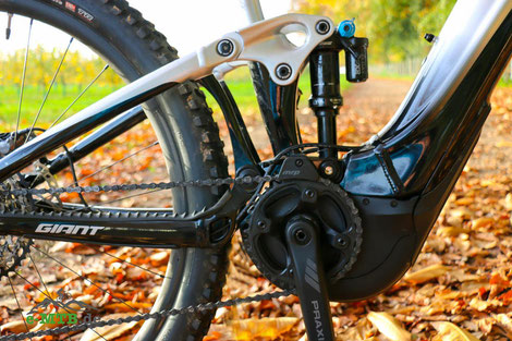 Der SyncDrive Pro Motor am Giant Trance X E+