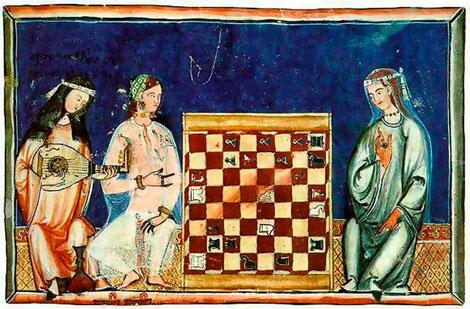 Miniatura del Libro de los Juegos, s.XIII.