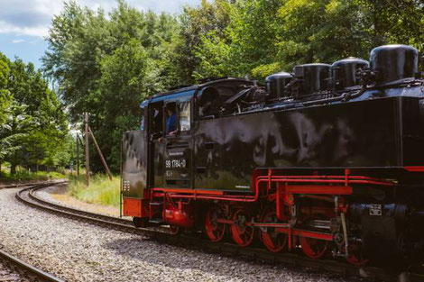 Steam train Eymoutiers