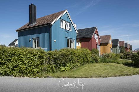 Houten huizen in Kristiansund