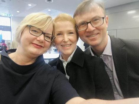 Nicole Kultau, Stefanie Ebenfeld und ihr Mann