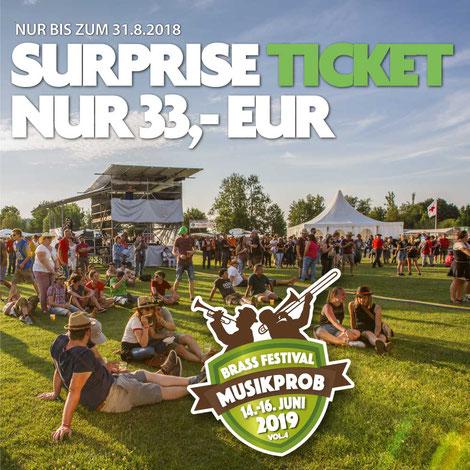 SURPRISE TICKET Musikprob Brass-festival 2018 für 33 EUR