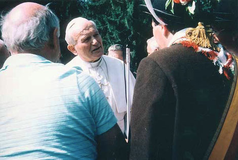 Papst Johannes Paul II. in Val Visedende