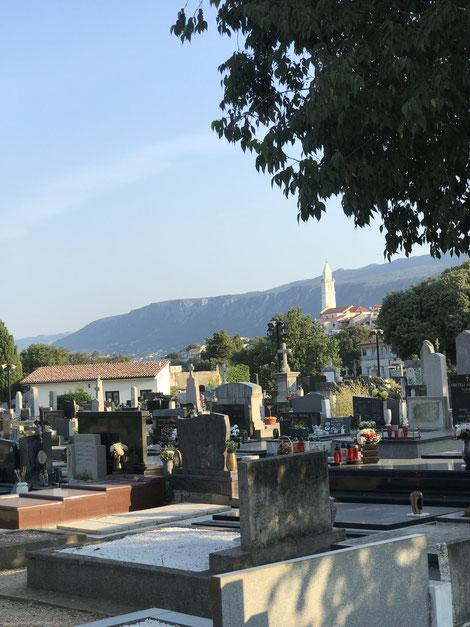 Friedhof in Novi Vinodolski, Kroatien