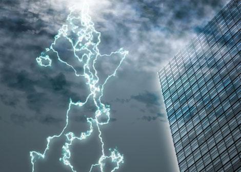 落雷の画像