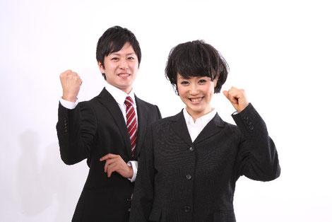 若い男女の新入社員