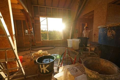 Impressionen einer Hanfbaustelle. Foto: Lara Krauße