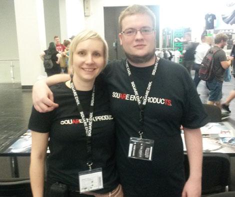 Rhys und ich am SQUARE ENIX PRODUCTS Stand