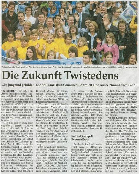Zeitungsartikel aus der Rheinischen Post