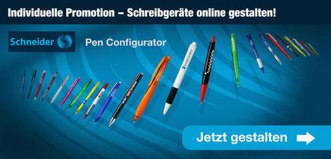 Werbeartikel Kugelschreiber Schneider Schreibgeräte bedrucken Wien