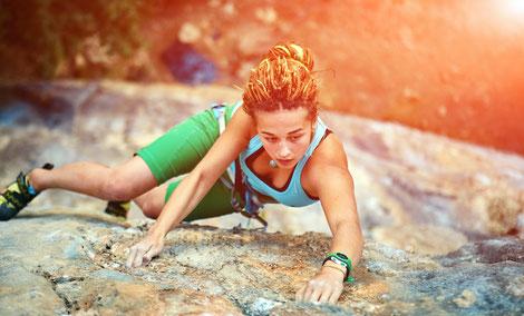 Klettertraining macht Spaß