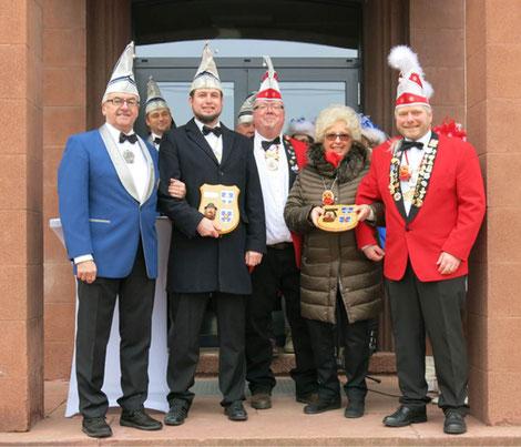 Von links nach rechts: Volker Rocca, Sven Deck, Georg Ehrlich, Giesela Daurer und Michael Pustleik