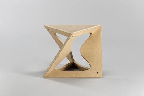スツール 正八面体 多面体 チェア 家具 N.P.ウッド