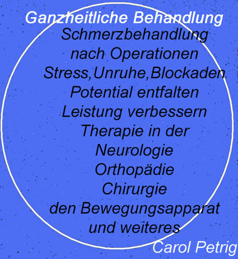 Physiotherapie Carol in Küssnacht am Rigi, Physiotherapie in Meggen, Massage in Meggen, Meggen Massage, Küssnacht Carol Petrig, google -carol-petrig,  Naturarzt, Shiatsu, EMR, ASCA , TEN ,