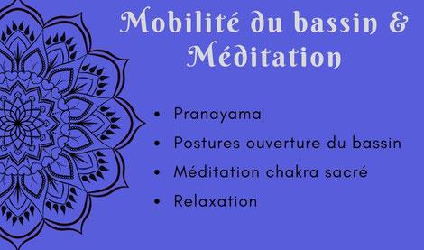 Atelier yoga Ly reiki yoga mobilité du bassin