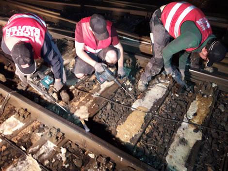Schwellensanierung Rheinbahn Düsseldorf