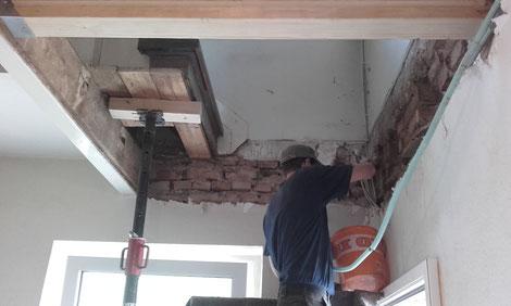 Sanierung Holzbalkendecke nach Schwammbefall